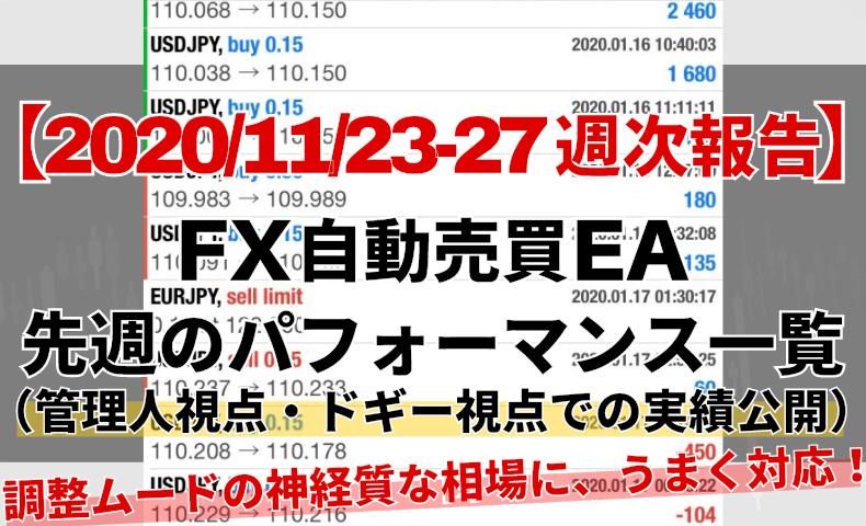 【週次報告】CGアイキャッチ20201123から27まで
